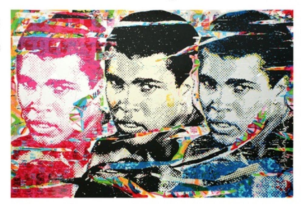 Serigrafía Mr Brainwash - Muhammad Ali – The Champ