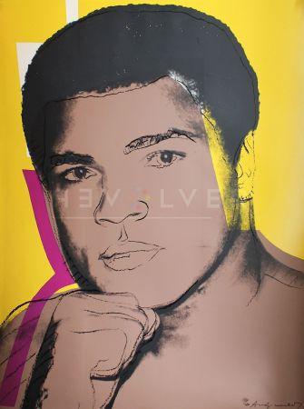 Serigrafía Warhol - Muhammad Ali, Yellow (FS II.182)