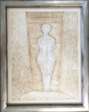Grabado Tamayo - Mujer en Blanco - Woman in White (Pereda 174)