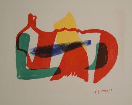 Litografía Moore - Multicoloured Reclining Figure