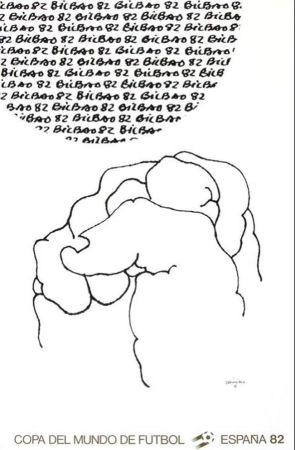 Litografía Chillida - '' Mundial 1982 ''
