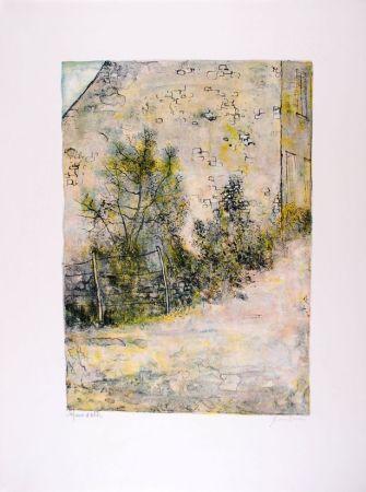 Litografía Gantner - Mur de ferme - Farm's wall