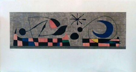 Litografía Miró - Mur de la Lune