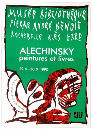 Cartel Alechinsky - Musée Bibliothèque PIerre André Benoit