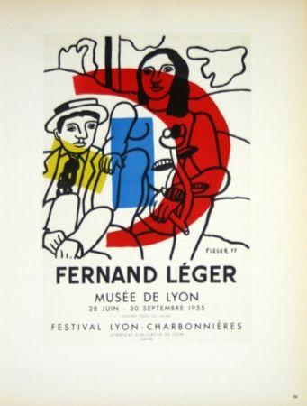 Litografía Leger - Musée de Lyon  1955