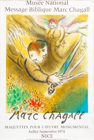 Litografía Chagall - Musée National, 1974