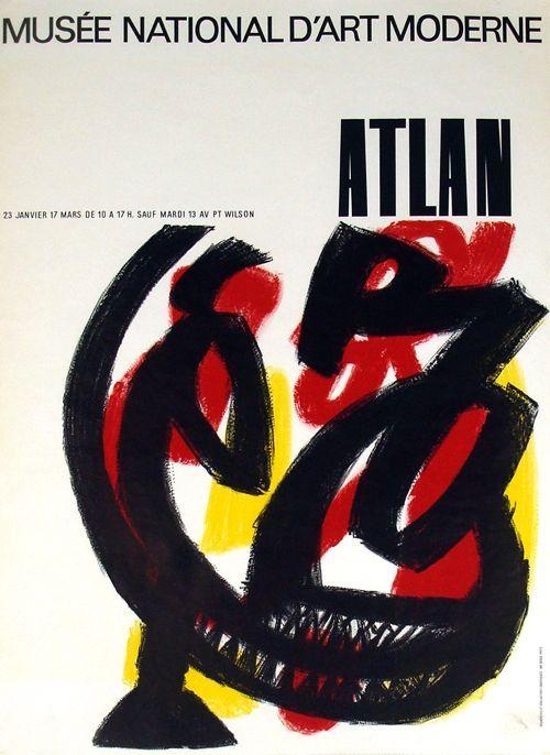 Litografía Atlan - Musee National D'Art  Moderne