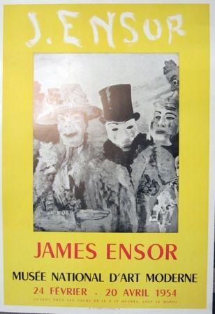 Litografía Ensor - Musee Natonal D'Art Moderne