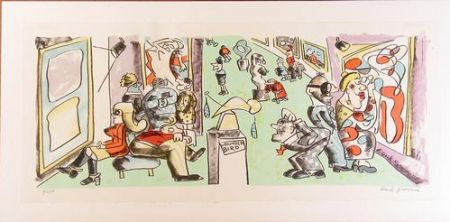 Litografía Grooms - Museum