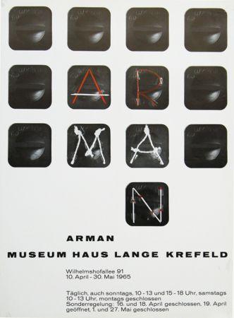 Cartel Arman - '' Museum Haus Lange ''  Krefeld