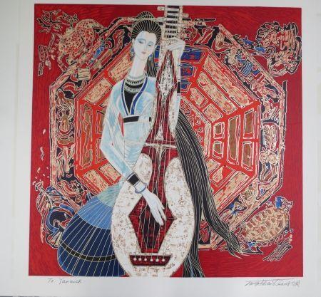 Litografía Ting - Musician
