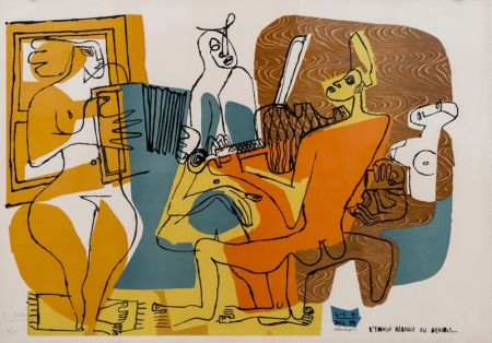 Litografía Le Corbusier - Musiciennes (hand-signed & numbered)