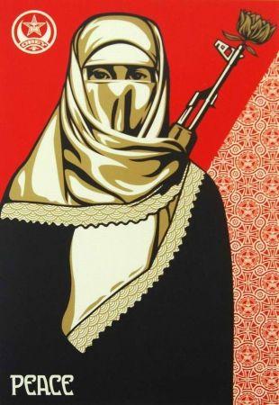 Serigrafía Fairey - Muslim Woman