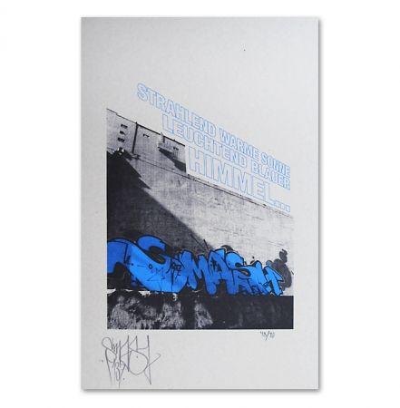Serigrafía Falkner - My Space blue