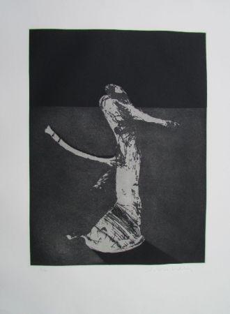 Grabado Scholder - Mystery Portrait In Barcelona