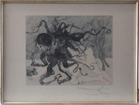 Aguafuerte Y Aguatinta Dali - Mythologie : Medusa