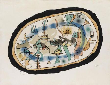 Litografía Miró - Naissance du jour