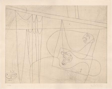 Aguafuerte Le Corbusier - Naissance du Minotaure II (hand-signed & numbered)