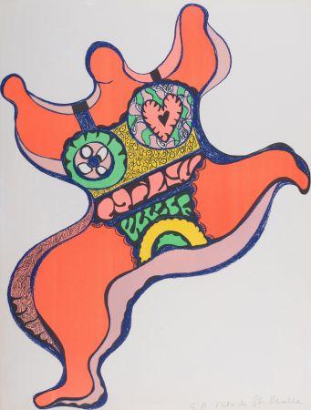 Litografía De Saint Phalle - Nana, 1971. Lithographie signé.