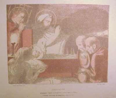 Litografía Denis - Nativité