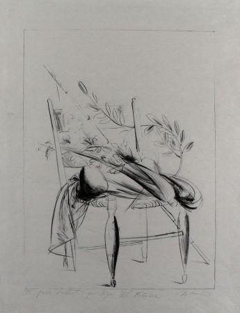 Litografía Manzu - Natura morta