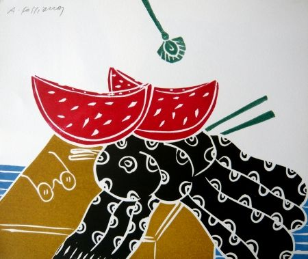 Linograbado Fassianos - Nature morte
