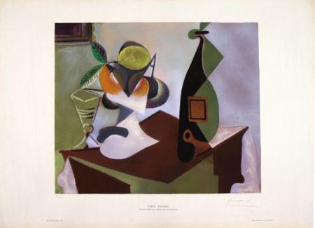 Litografía Picasso - Nature Morte au Citron et aux Oranges