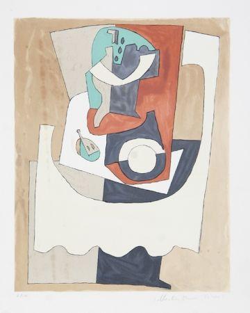 Litografía Picasso - Nature Morte Au Gueridon et a L'Assiette