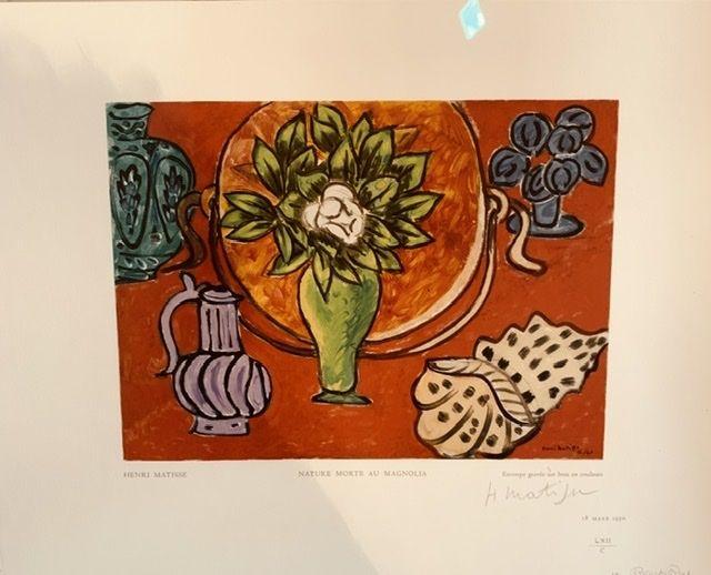Grabado En Madera Matisse - Nature morte au Magnolia