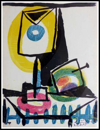 Litografía Picasso (After) - NATURE MORTE AU VERRE