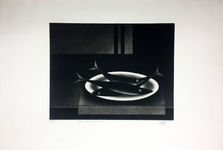 Manera Negra Avati - Nature morte aux 3 poissons (1961)