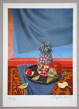 Litografía Chapelain-Midy - Nature Morte aux Ananas et Grenades