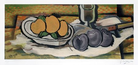 Litografía Braque - Nature Morte Aux Fruits, 1950