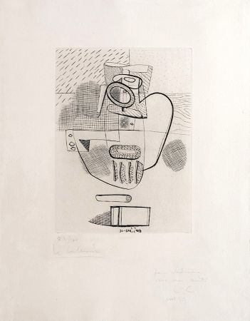 Grabado Le Corbusier - Nature Morte (hand-signed, numbered, dedicated)