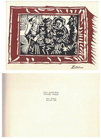 Linograbado Picasso - '' Navidad 1963 ''