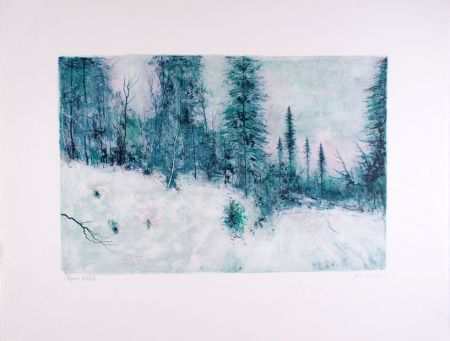 Litografía Gantner - Neige I - Snow I