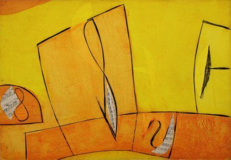 Grabado Cascella - Nel giorno assoluto giallo