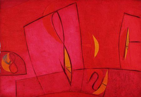 Grabado Cascella - Nel giorno assoluto rosso