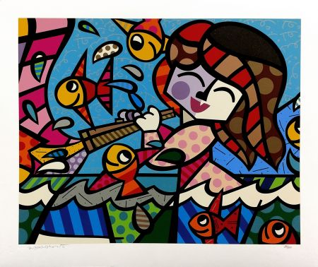 Serigrafía Britto - NEPTUNE'S DAUGHTER