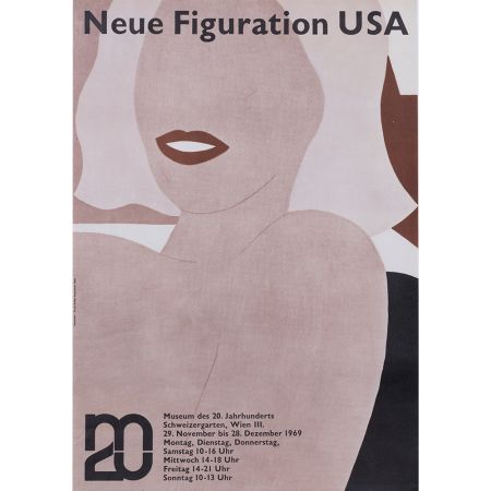 Cartel Wesselmann - Neue figuration USA 1969