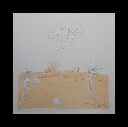 Grabado Dali - Neuf Paysages Paysage avec Figures-Soleil from Sun