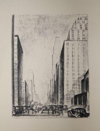 Litografía Lubbers - NEW-YORK / BROADWAY