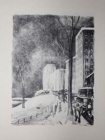 Litografía Lubbers - NEW-YORK / CENTRAL PARK