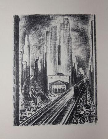 Litografía Lubbers - NEW-YORK / SUBWAY