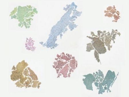 Litografía Macchi - New World