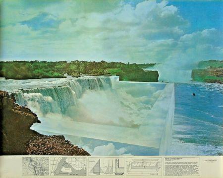 Litografía Superstudio - Niagara o l'architettura riflessa