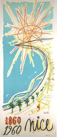 Litografía Moretti - Nice 1860 1960