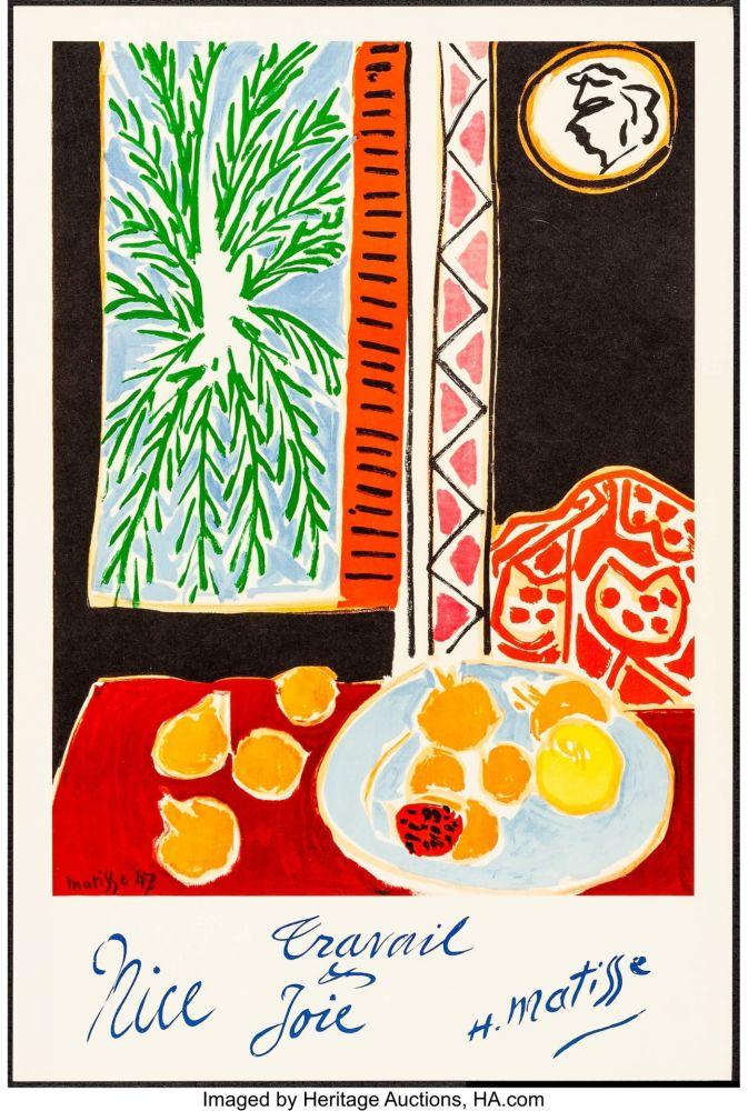 Litografía Matisse - Nice, Travail et joie