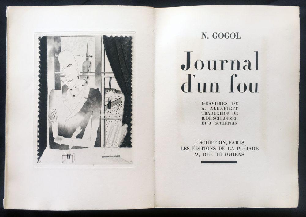 Libro Ilustrado Alexeïeff - Nicolai Gogol : JOURNAL D'UN FOU (1927).
