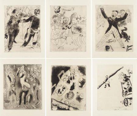 Libro Ilustrado Chagall - Nicolas Gogol : LES ÂMES MORTES. Eaux-fortes originales de Marc Chagall